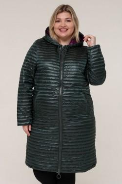 Женская весенне-осенняя куртка 18820 Зеленый темный