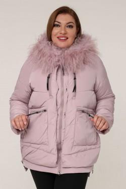 Женская зимняя куртка 203-18 Розовый