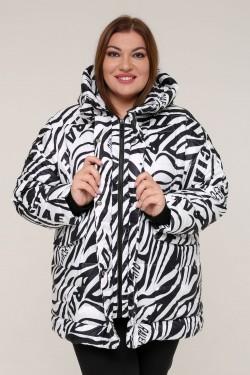 Женская зимняя куртка 20366 Зебра белая