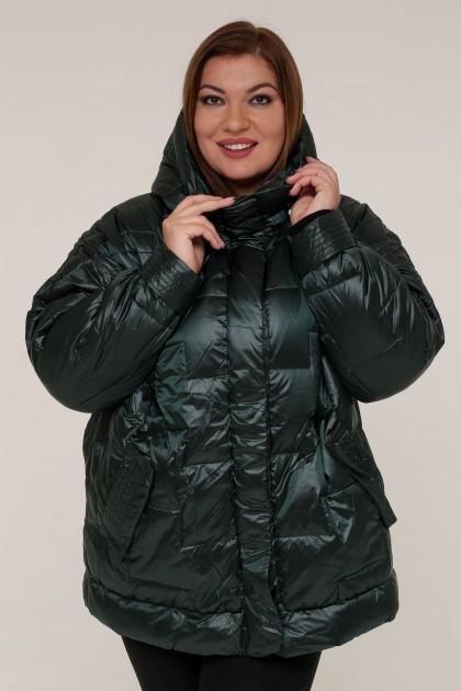 Женская зимняя куртка 20322 Зеленый , большие размеры