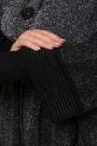 Женское универсальное пончо 13529 Черный , большие размеры