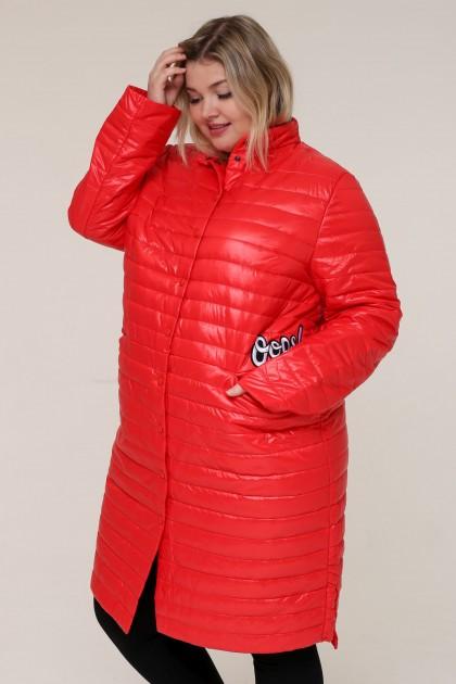 Женская зимняя куртка 16889 Красный , большие размеры