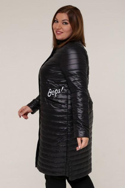 Женская зимняя куртка 16889 Черный , большие размеры