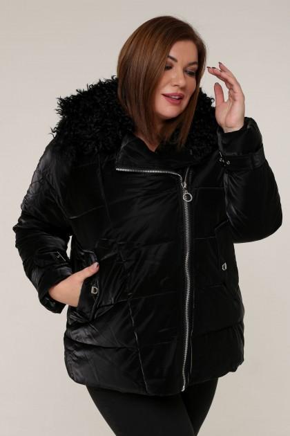 Женская зимняя куртка 20439 Черный , большие размеры