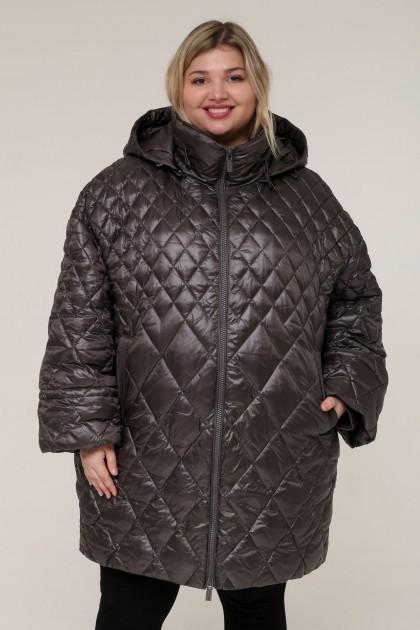 Женская зимняя куртка 20338 Серый , большие размеры