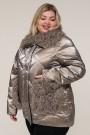 Женская зимняя куртка 20436 Золотой , большие размеры