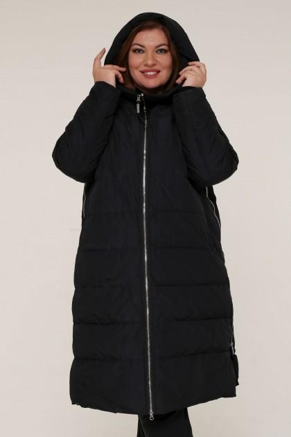 Женская зимняя куртка А 205 Черный , большие размеры