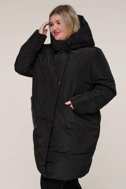 Женская зимняя куртка А 199 Черный , большие размеры