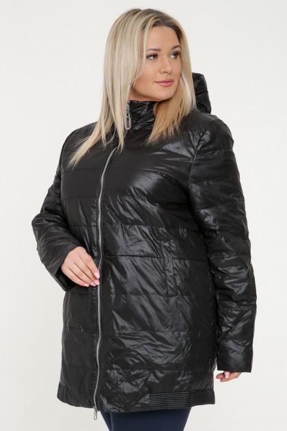 Куртка женская, фасон удлиненный, 19167, Черный