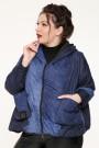 Куртка женская, фасон укороченный 19651, двухсторонняя