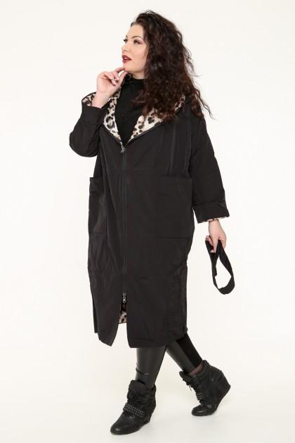 Пальто женское, фасон удлиненный 19665, двухстороннее