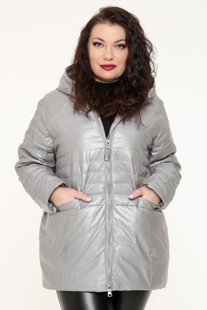 Куртка женская, фасон удлиненный, 19170, Серый