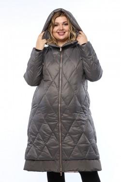 Женское пальто, 19215, Темно-серый
