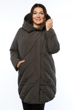 Женское полупальто, А 169-1, Серый