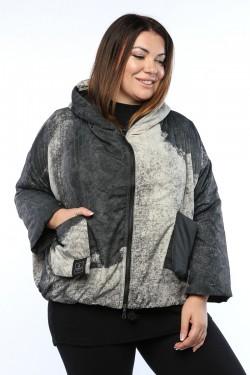 Женская куртка, 19651, Серый Двухсторонняя