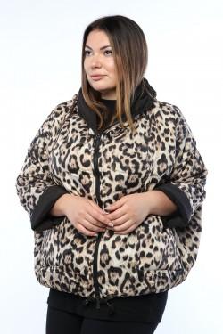 Женская куртка, 19651, Леопард Двухсторонняя
