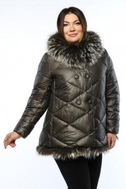 Женская куртка, А 145, Серый