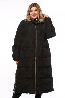 Женское пальто, 19210, Черный