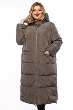 Женское пальто, 19210, Серый