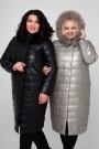 Женское пальто эко-кожа, 18-608, Серебро