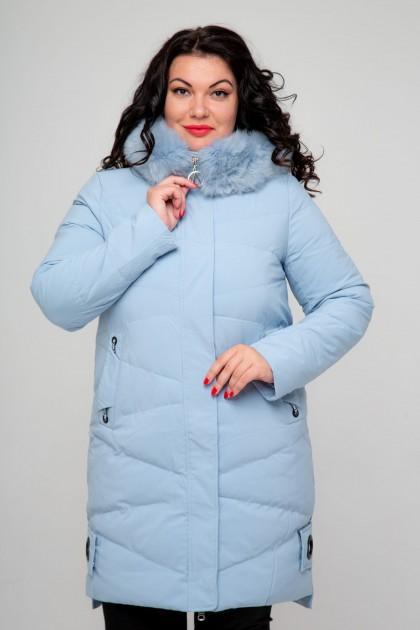 Женское пальто, 18-620, Голубой