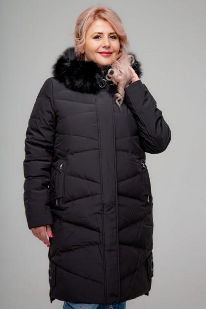 Женское пальто, 18-620, Черный