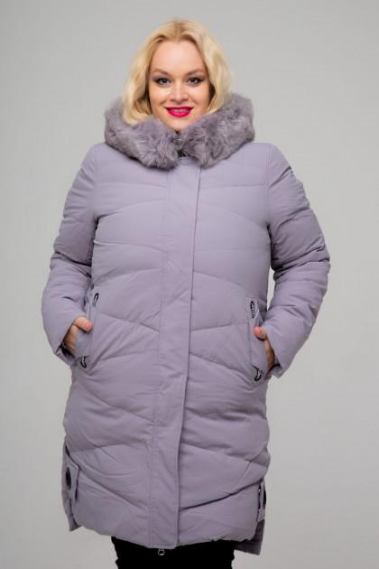Женское пальто, 18-620, Сиреневый