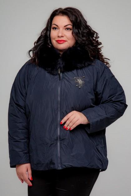 Женская куртка, А-165, Темно-Синий+Декор