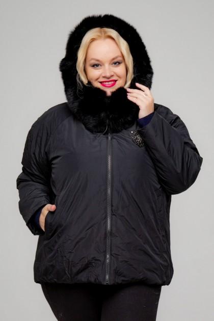 Женская куртка, А-165, Черный+Декор
