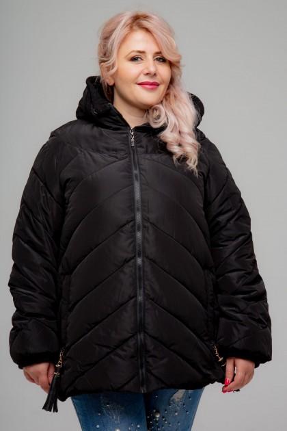 Женская куртка, А-153, Черный , большие размеры
