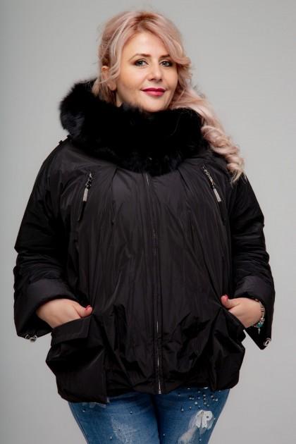 Женская куртка, А-166, Черный