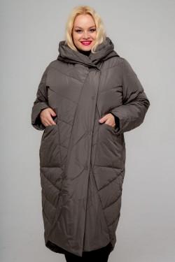 Женское пальто-одеяло, А-212, Капучино