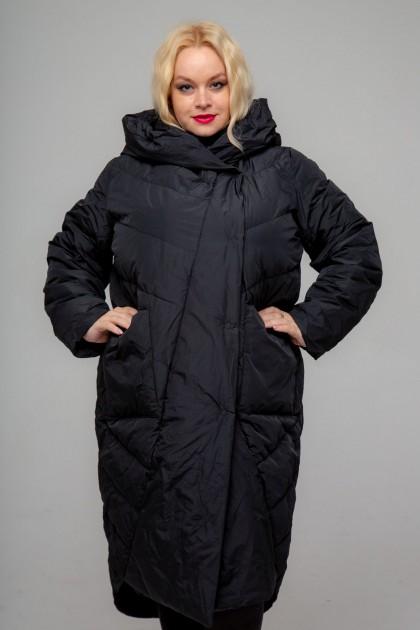 Женское пальто-одеяло, А-212, Черный