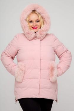 Женская куртка, 18-627, Пудра