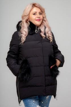Женская куртка, 18-627, Черный