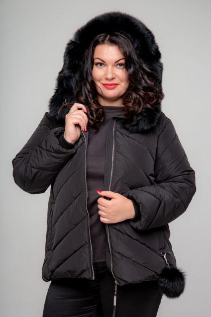 Женская куртка, А-155, Черный