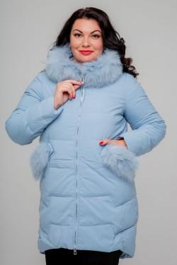Женское полупальто, 18-512, Голубой
