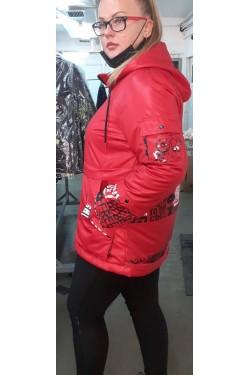 Женская куртка весна-осень 61835 Красный