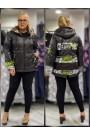 Женская куртка весна-осень 61835 Черный