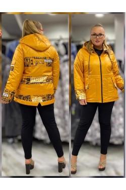 Женская куртка весна-осень 61835 Желтый