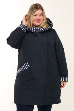 Женское пальто весна-осень 20223 Синий