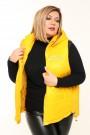 Женская безрукавка двухсторонняя весна-осень 20107 Желтый