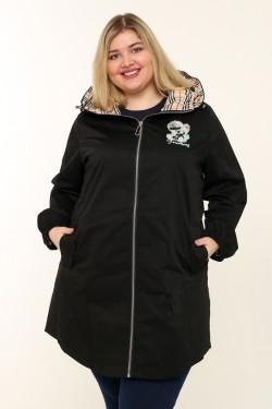 Женская куртка весна-осень 7531 Черный