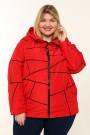 Женская куртка весна-осень 211-42 Красный