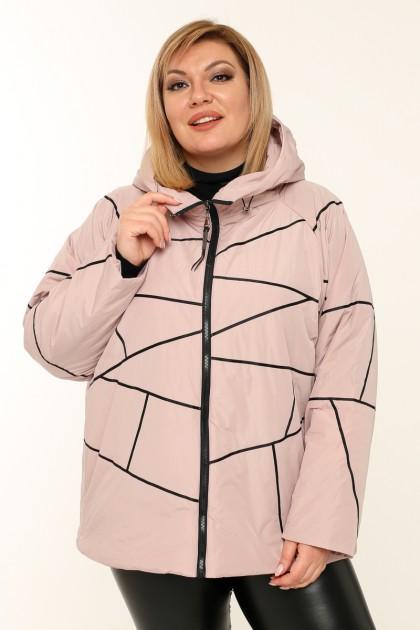 Женская куртка весна-осень 211-42 Пудра