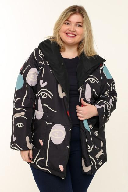 Женская  двухсторонняя куртка весна-осень 211-152 Пикассо