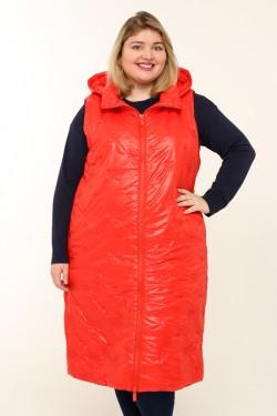 Женская безрукавка весна-осень 20855 Красный