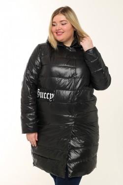 Женское пальто весна-осень 7751 Черный