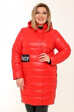 Женское пальто весна-осень 7751 Красный