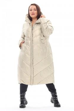 Женская удлиненная зимняя куртка 21112 Жемчуг